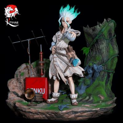 Estatua Senku Dr. Stone Kitsune