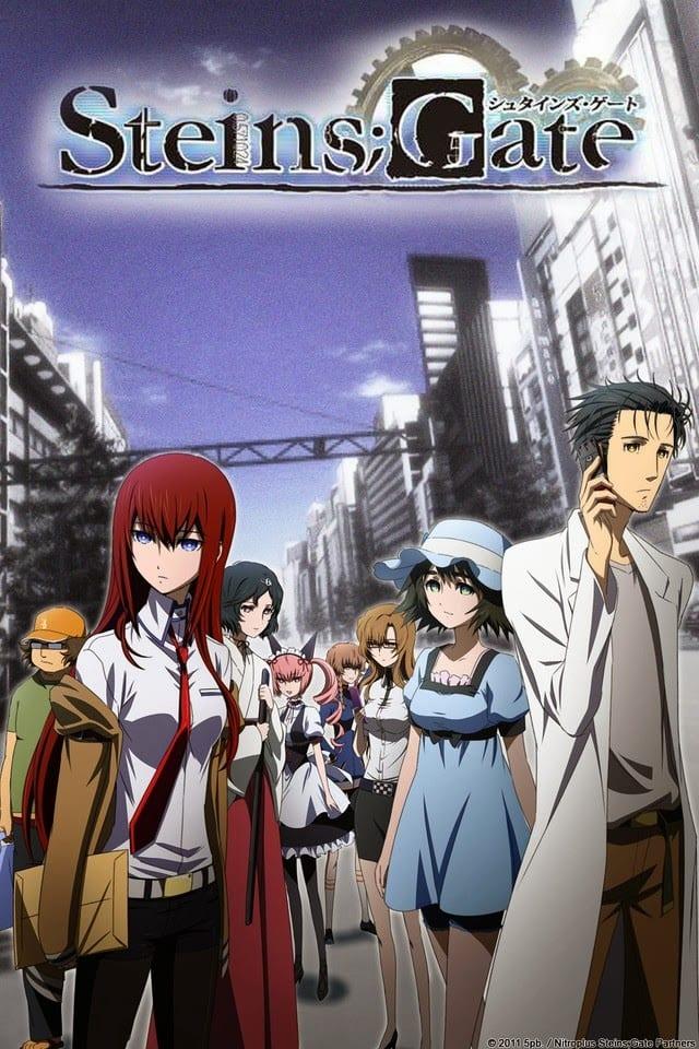 Steins Gate portada. Los mejores animes de la historia