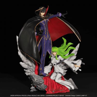 Estatua Lelouch Zero & C.C Code Geass Kitsune