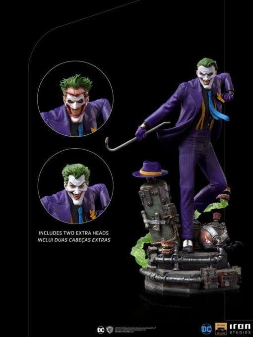 Estatua The Joker Deluxe DC Comics Iron Studios